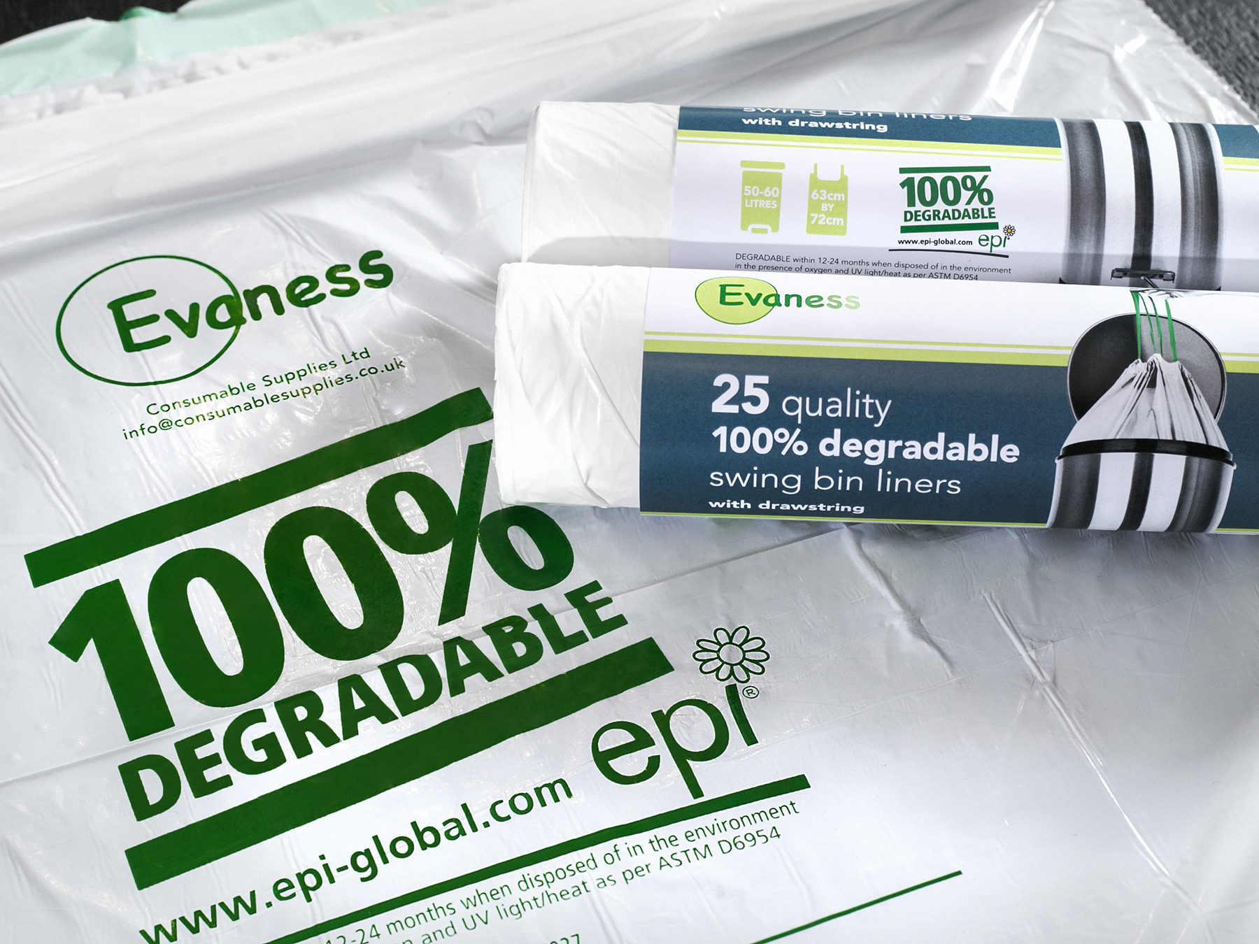 100% Degradable Swing Bin Liners | Bin Bags
